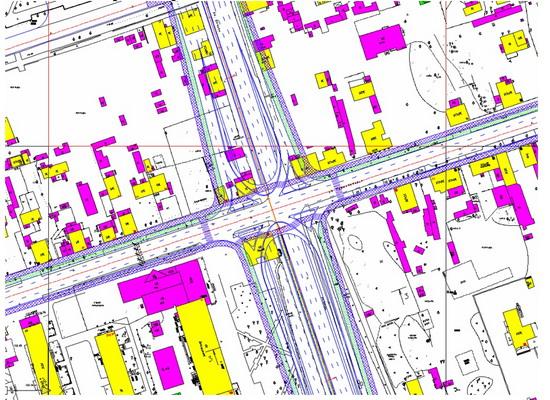 Организации улично-дорожной сети в пределах притяжения коммунального моста (правый берег) .