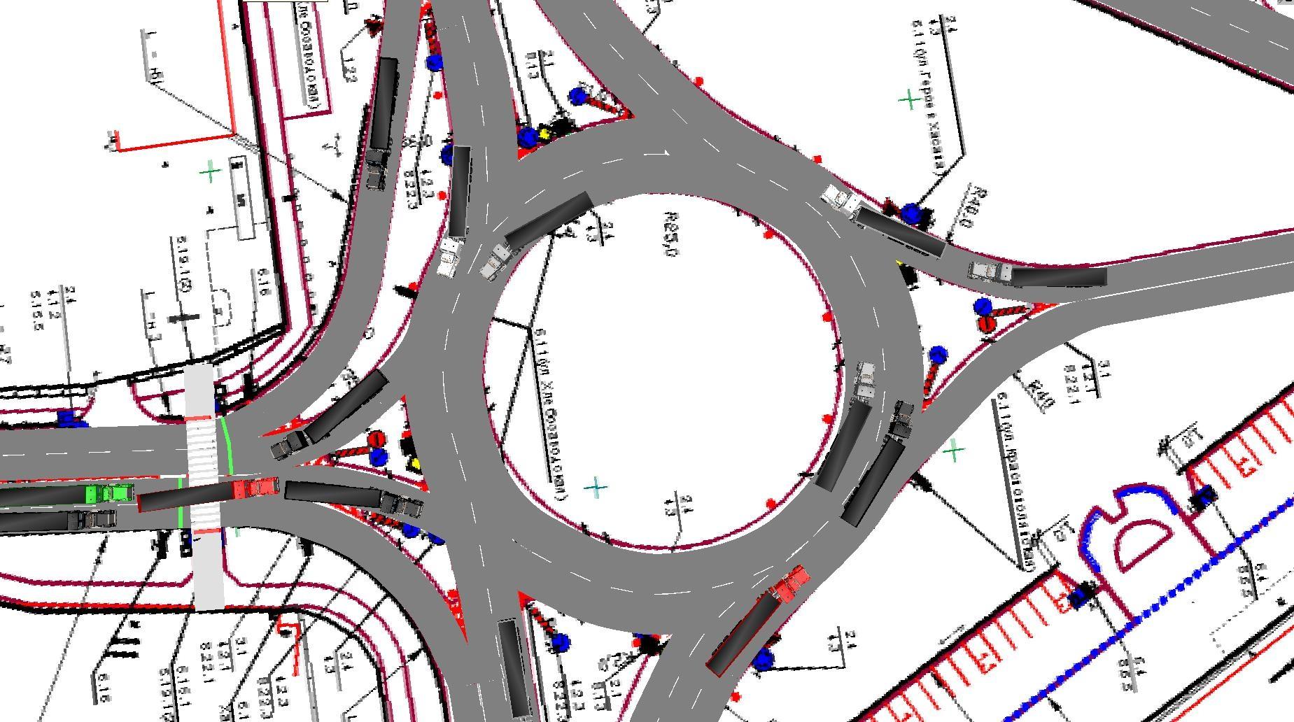 Схемы развязок на кольцевой дороге