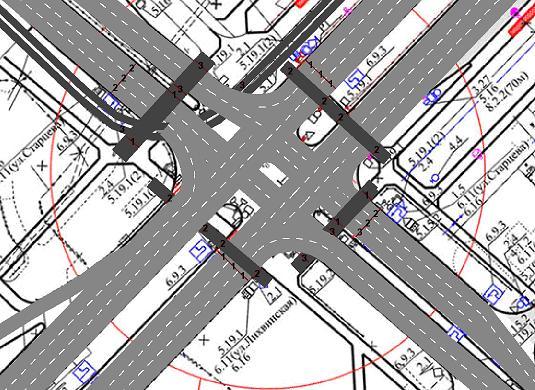 3 фаза - Фаза зеленого сигнала для левоповоротного движения с ул. Лихвинская для третьей полосы.