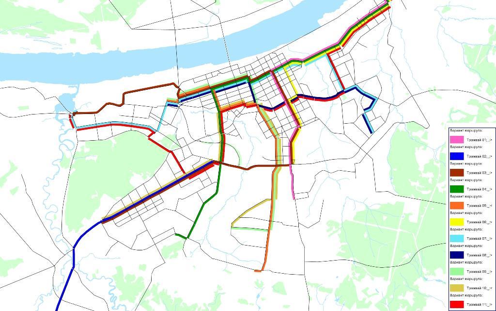 Схема развития трамвайной сети