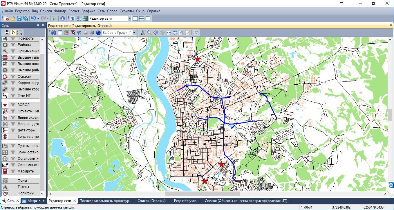 Картограмма с изображением планируемых мероприятий по развитию УДС дополнительно к предусмотренным муниципальными программами Томска на 2017-2035 годы