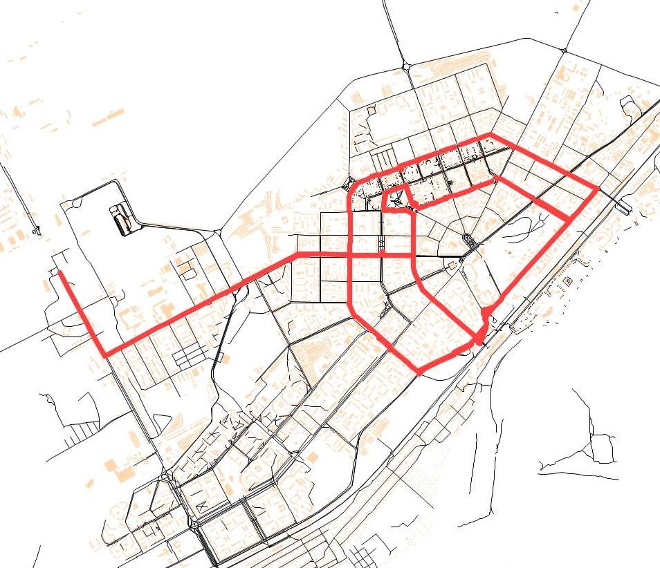 Вариант продления маршрутов 2 и 5 на запад по ул. Красноармейская