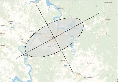 Итоговая модельная граница Пермской городской агломерации