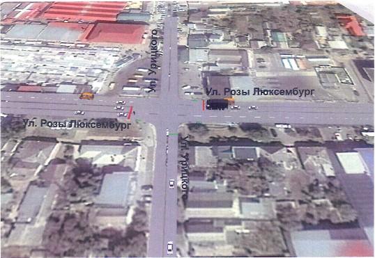 Визуализация движения транспортного потока на одном из перекрестков